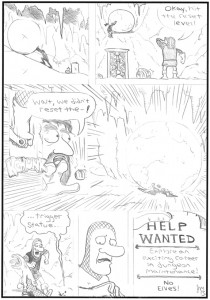 Little Dungeon of Horrors page 1 Pencils web size